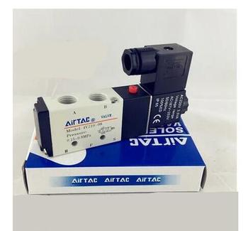 цена на Free Shipping 1pcs/lot 1/4 2 Position 5 Port AirTAC Air Solenoid Valves 4V210-08 Pneumatic Control Valve , 12v 24v 110v 220v