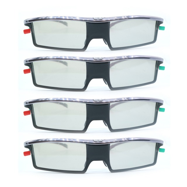 4pcs Replacement GX-21AB Active Shutter Universal 3D Glasses GX-33AB For Samsung/Panasonic/TCL/Thomson/Toshiba/IKEA 3D TV GX33AB