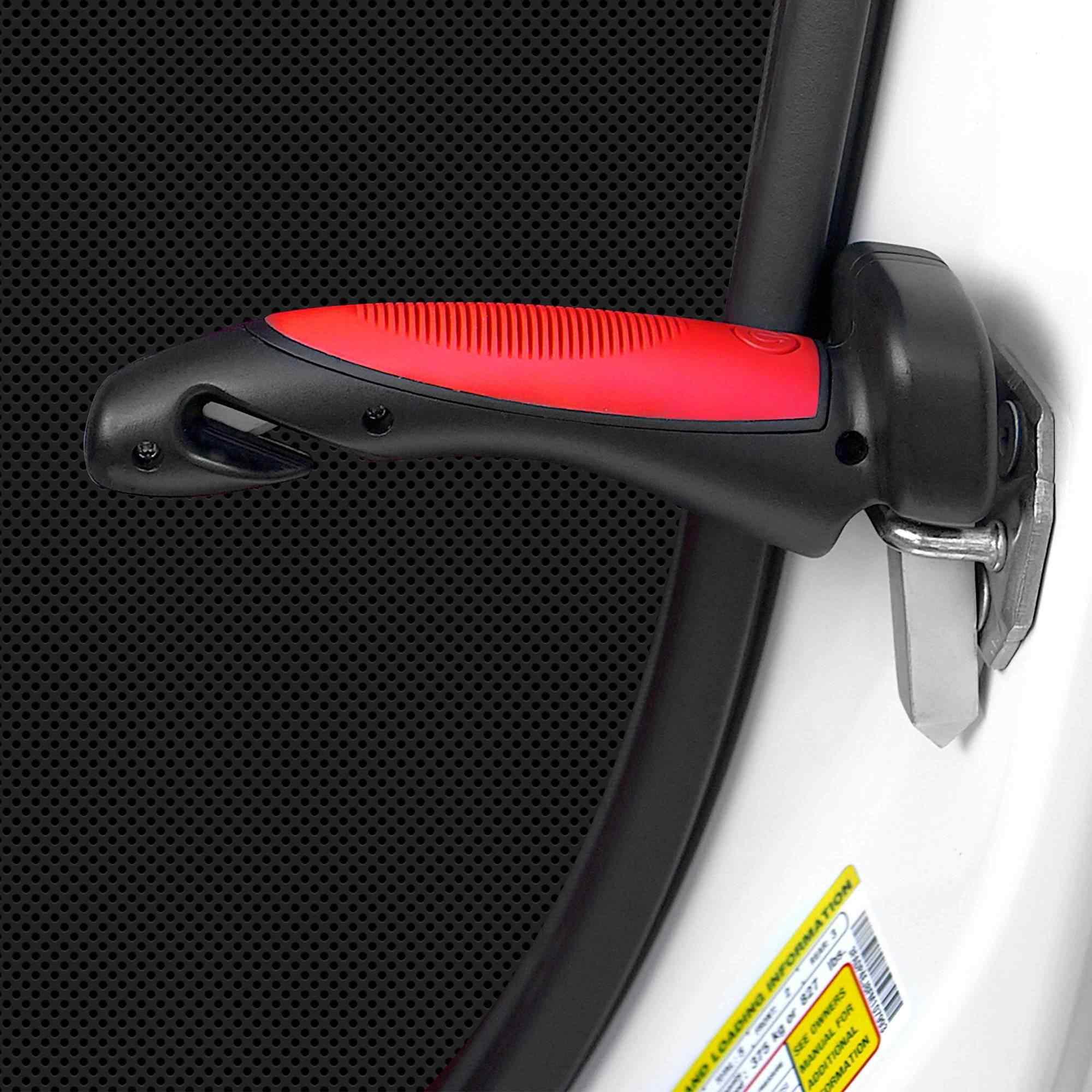 Все в 1 ручка двери автомобиля тростника портативная ручка Встроенный светодиодный фонарик инструмент для разрезания ремня безопасности стеклянный выключатель Поддержка до 350lbs