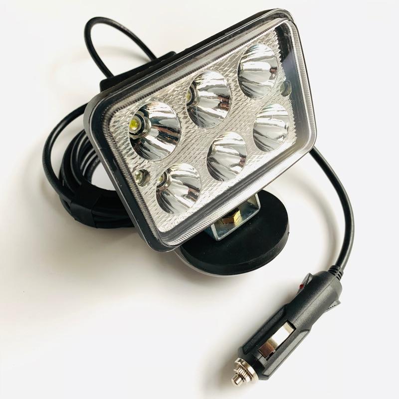 12v 24v Car truck Emergency repair inspection light Magnets base portable Spot Searchlight Camping hunting fishing