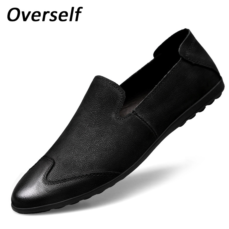 New Genuine Leather Loafers Handmade Men Soft Fashion Black Man Casual Shoes Zapatos Hombre Men's Moccasins Plus Size Eur 46 47 ключ гаечный комбинированный 25х25 santool 031604 025 025 25 мм