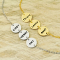 Liga personalizado pulseira nome, círculo liga disco nome brcelet, família pulseira, o melhor presente para o pai