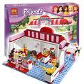 БЕЛА 10162 сборка строительных 221 P подруги серии city cafe игрушки кофейня кирпичи подарок Совместимость с Lego
