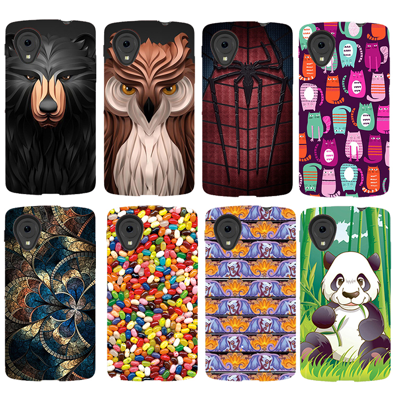 For LG Google Nexus 5 D821 D820 Case Fashion Cartoon Painting Drawing soft silicone Cover Case For LG Google Nexus 5 Phone Cases ...