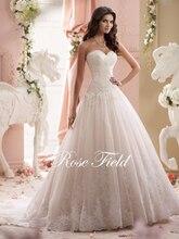 SL-020992 Elegant A-line Sweetheart Appliqued Lace Bridal Wedding Dress 2015