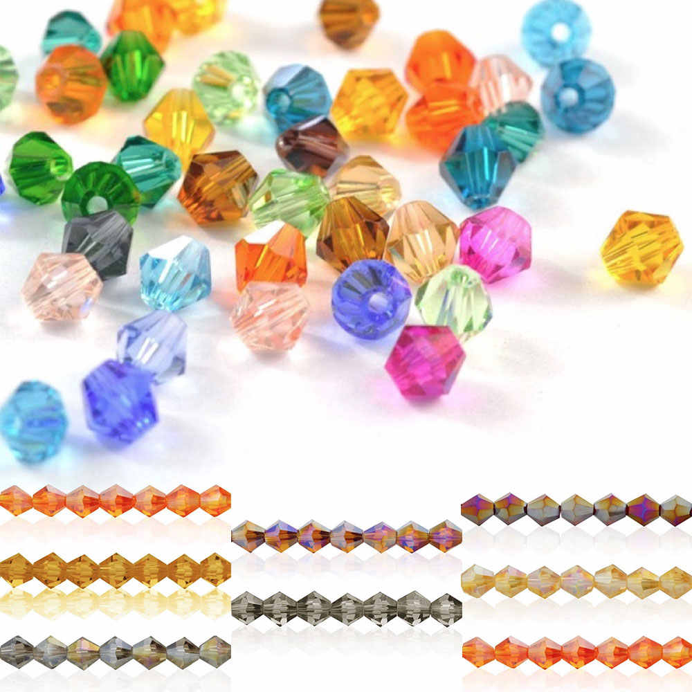 X 4 Mm chino cristal bicono cuentas bnbi23 AB DK ámbar 80