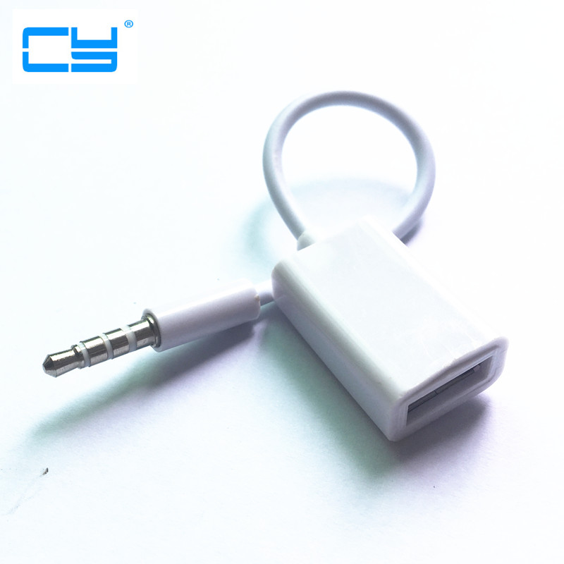 3.5mm Male AUX Audio Plug Jack To USB 2.0 Female Converter Cable Cord For Car MP3 Speaker U Disk USB flash drive Accessories 3.5 3 5mm male aux audio plug jack to usb 2 0 converter cable cord for apple ipod mp3 audio cable line lcc77