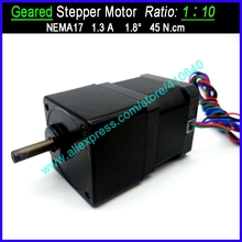 цена на 1:10 Ratio NEMA 17 Geared Stepper Motor Speed Reducing  Stepper with FACTORY BOTTOM Price OTHER Ratio Available For Supplying