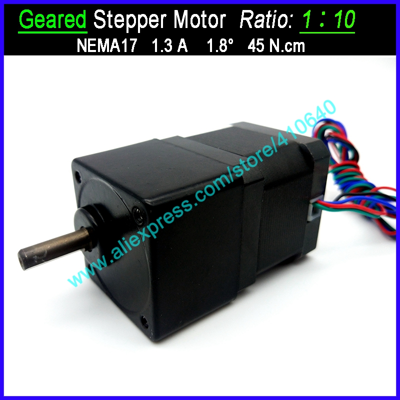 1:10 Ratio <font><b>NEMA</b></font> <font><b>17</b></font> <font><b>Geared</b></font> Stepper <font><b>Motor</b></font> Speed Reducing Stepper with FACTORY BOTTOM Price OTHER Ratio Available For Supplying image