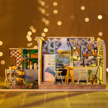 Dollhouse DIY Dollhouse Miniature Kids Toys Cute Families House Slow Life Beginner Player with All Doll House Accessories cute families house miniature dollhouse slow time loft villa wood diy dollhouse valentine gift kids toys for children