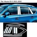 Стайлинг автомобиля из нержавеющей стали Стекло окно гарнир столб средней колонны отделка вытяжки литье для Mazda CX-5 CX5 2013 2014 2015 2016