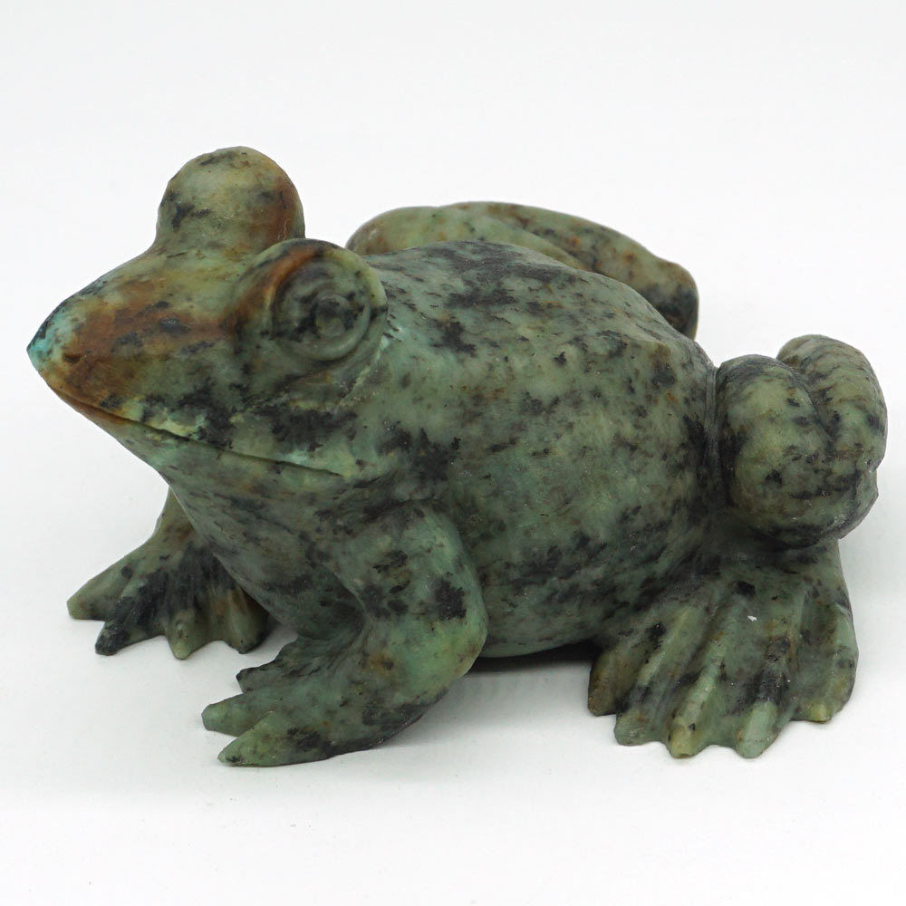 3.35Frog African Turquoise Carved Gemstone Animal Totem Statue Stone Home Decor3.35Frog African Turquoise Carved Gemstone Animal Totem Statue Stone Home Decor
