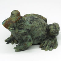 3.35Frog African Turquoise Carved Gemstone Animal Totem Statue Stone Home Decor