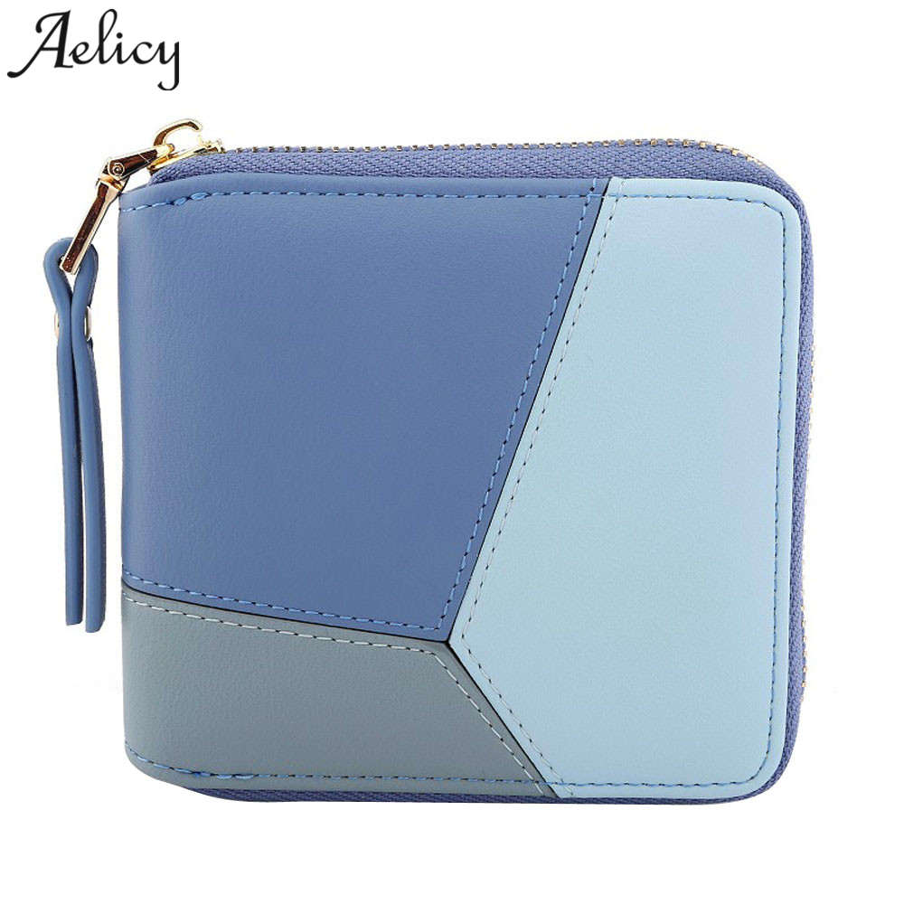 Aelicy Luxury New Wallet Women Large Capacity Female Short Paragraph Fashion Leather Wallet Women Clutch Multi-card Ladies Purse