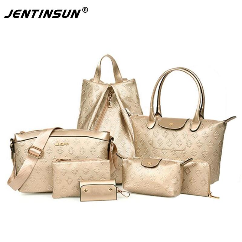 Women Messenger Bags 7 Pieces Set luxury Designer Handbag Shoulder Women Composite bag Tote High-Grade Embossed Large Bag