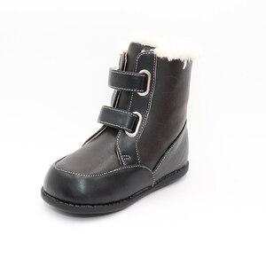 Image 5 - Tipsietoes 2020 새로운 겨울 어린이 맨발의 신발 가죽 마틴 부츠 키즈 스노우 보이즈 고무 패션 핑크 스니커즈