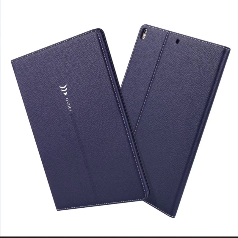 цена на Case for iPad Pro 10.5, GEBei Premium PU Leather Business Folio Stand Pocket Auto Wake Smart Cover case for iPad Pro 10.5 inches