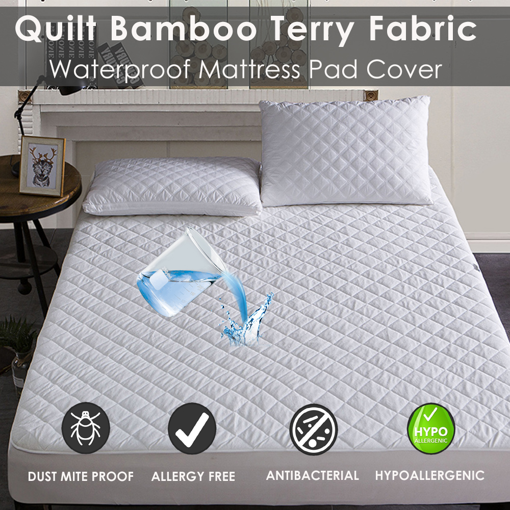 Aliexpress Com Buy Bamboo Terry Waterproof Quilted Bed