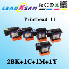 5 Pcs = 2BK + 1C + 1M + 1Y Print Head Kompatibel untuk HP11 Printhead C4811A C4812A C4813A c4810A 500 510 800(China)