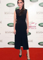Victoria Beckham Solid women dress elegant sleeveless sheath split dresses 2251