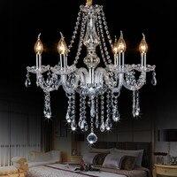 Luxury Gold Crystal Pendant Light Modern LED Nordic Hanging Lamp Indoor Home Fixtures Lights For Restaurant
