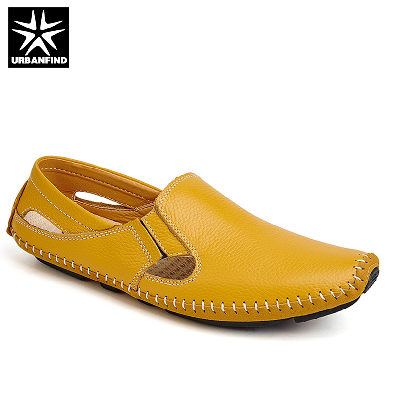 With / No Hollow Style Fashion Men Leather Driving Shoes Plus Size 45 46 47 Sewing Design Men Light Soft Loafers