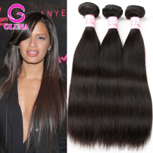 Gluna Beauty Hair products Peruvian Virgin Human Hair 3 Bundles 100% Unprocessed peruvian straight virgin hair Extensions