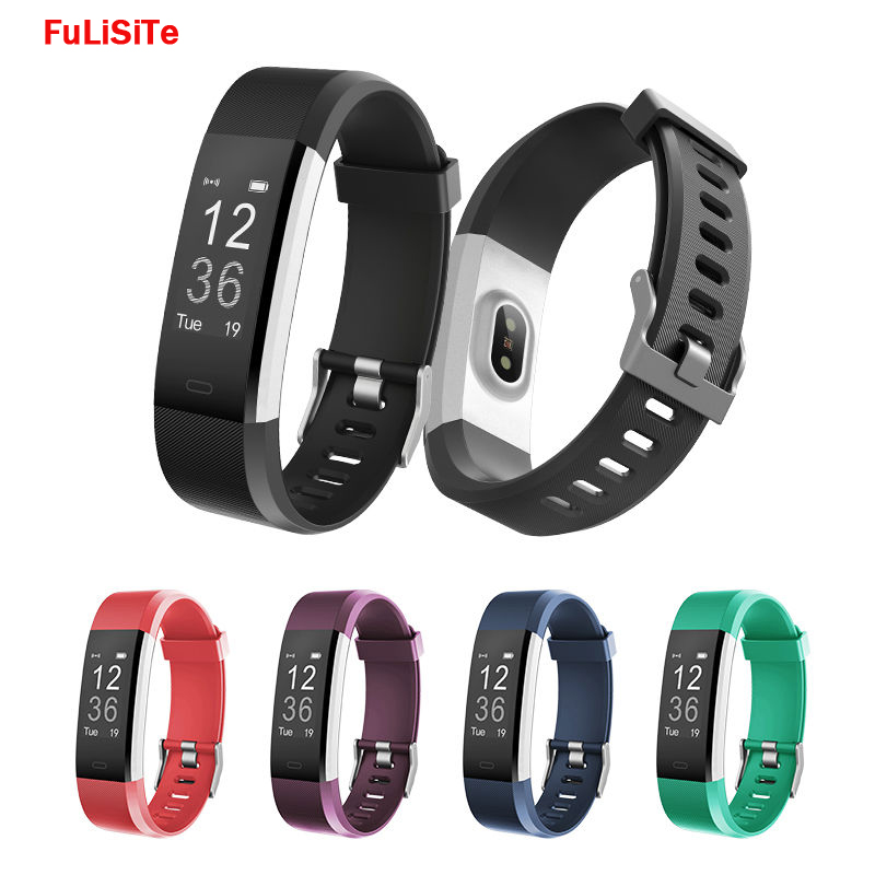 Smart Bracelet ID115 HR Heart Rate Monitor Vibrating Alarm Clock Pedometer Waterproof Fitness Tracker Wristband For