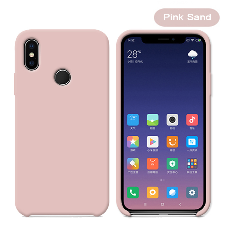 Original With Logo Silicone Phone Case For Xiaomi Mi 8 8 SE Mi 6X A2 Mix 2S Case Official Cover For Xiaomi Cases With Retail BoX (22)