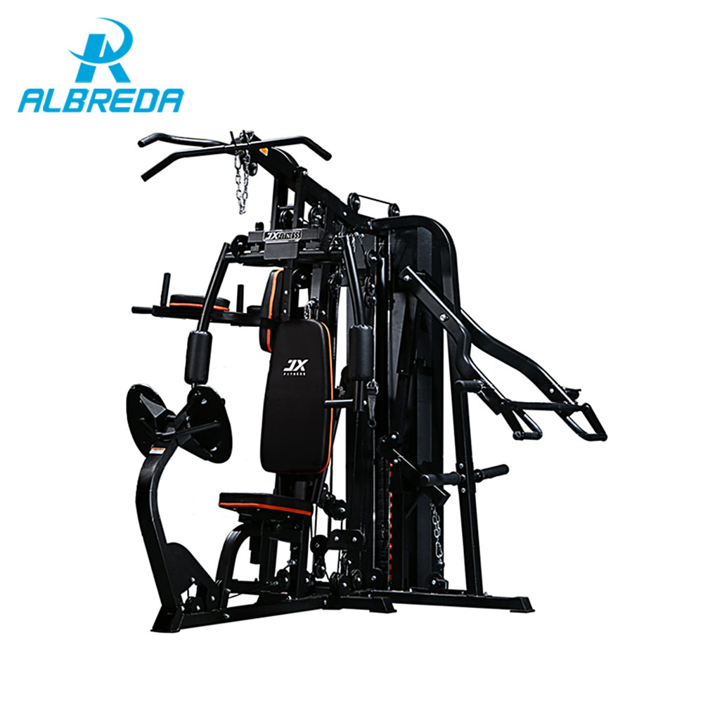 ALBREDA New Integrated trainer Fitness Equipment for Home workout Three station Multi Functional Machine Body Muscle Training fitness padded gravity boots safety locking mechanism ankle hooks abdominal workout training hang up ab gym equipment
