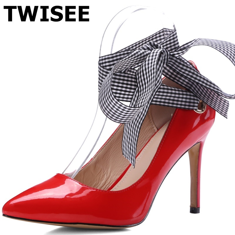 NEW Stunning Womens Patent Straps High Heels Shoes Sz 3-9
