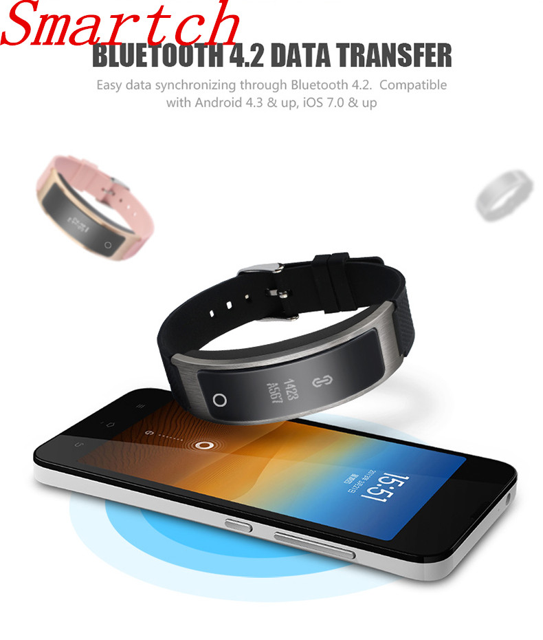Smartch Sport Bluetooth Smart Bracelet I8 Blood Pressure activity tracker Heart rate monitor watch with Pedometer