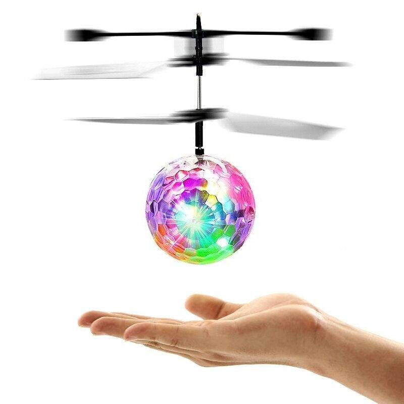 Flash Fliegenden Ball Hubschrauber Induktions Bunte Lampe RC Mini Drone Licht Up Flugzeug Ball Shinning LED Beleuchtung Spielzeug Für Kinder