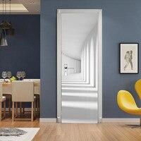 Corridor Passageway Lobby 3D Effect Door Sticker Home Decor Paste Universal Office Decor Wall Art Stickers
