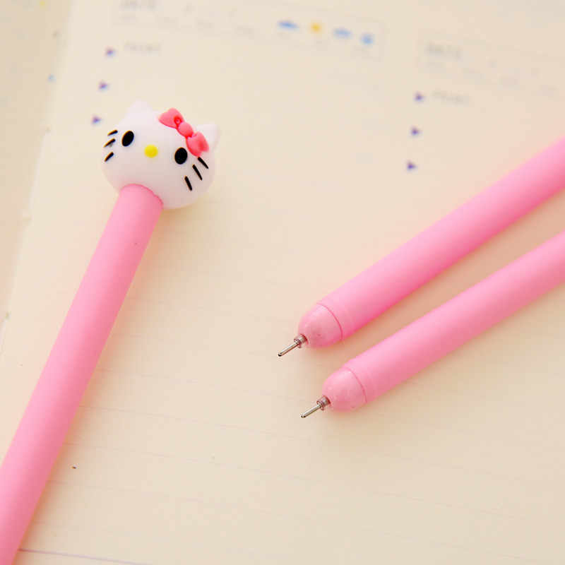 Olá Kitty Kawaii Caneta Gel Gato Dos Desenhos Animados Escritório Escola Suprimentos Acessório Estacionário Bonito Papelaria Rosa Loja de Coisa Diário Ferramenta