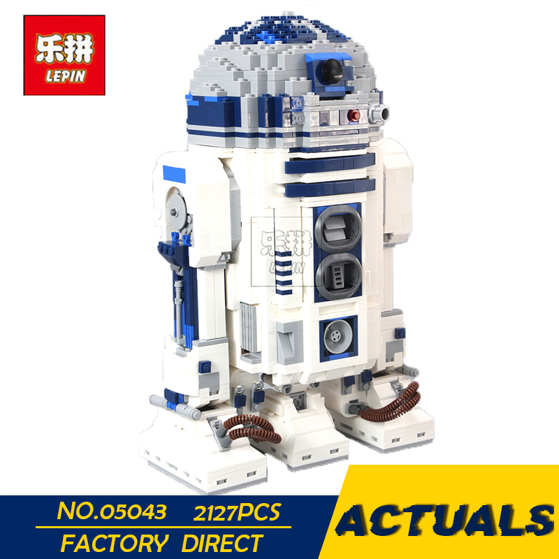LEPIN 05043 Genuine Star Series The R2 Robot Set D2 Out of print Building Blocks Bricks Toys 10225 wars birthday christmas gifts lepin 05043 2127pcs genuine the r2 model d2 robot set out of print building blocks bricks legoinglys 10225 birthday gifts