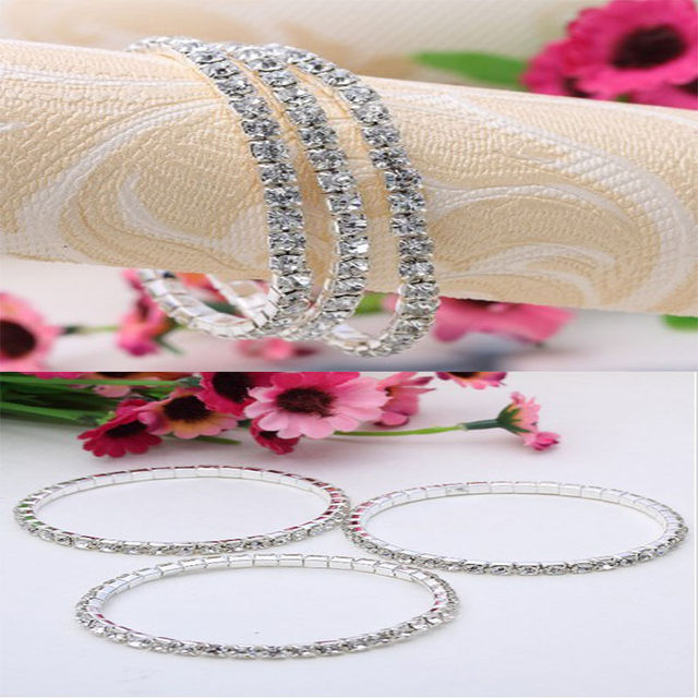 1 pc Fascinating fine Jewelry Accessories1 Row Crystal Adjustable Women Bracelet Hot Sale