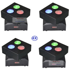 4XLot Factory Price 50W LED Moving Head Lights Disco Party Nightclub Pub Bar KTV 3X10W RGBW 4IN1 LED Moving Head Wash Lights