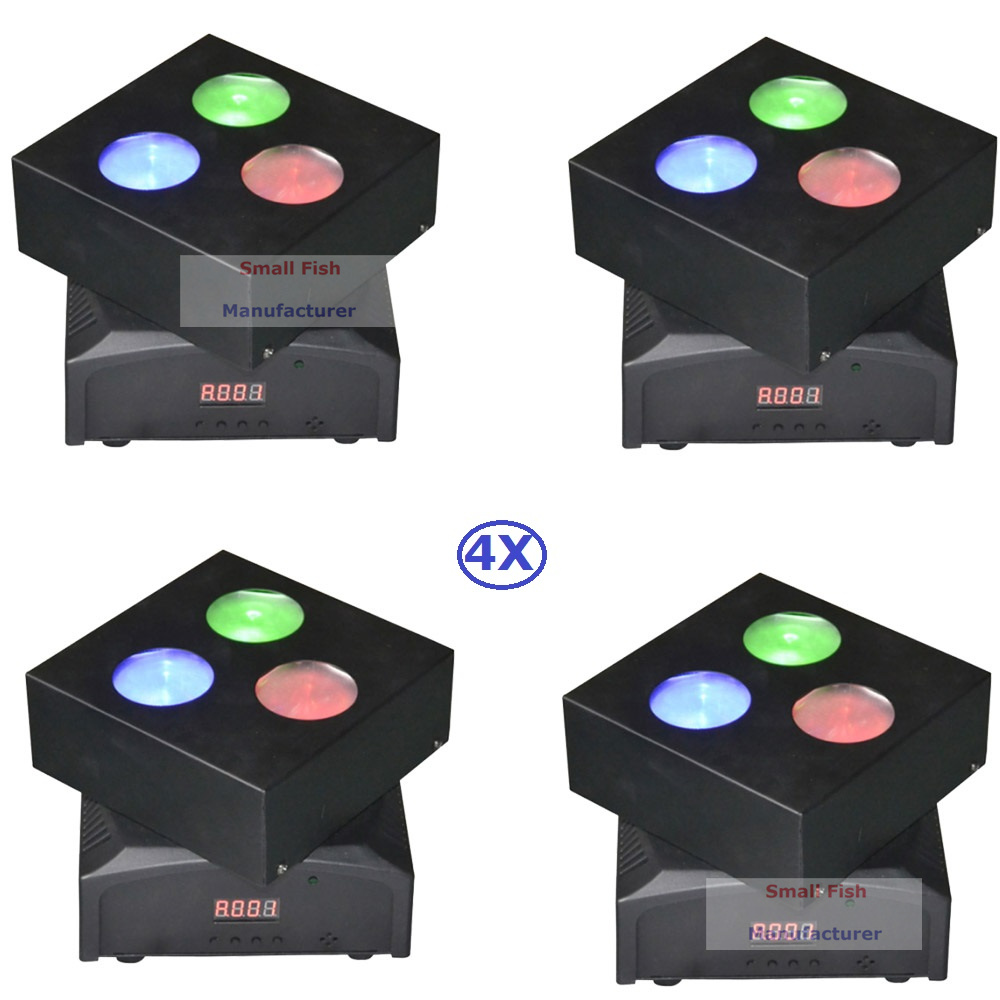 4XLot Factory Price 50W LED Moving Head Lights Disco Party Nightclub Pub Bar KTV 3X10W RGBW 4IN1 LED Moving Head Wash Lights factory price 4pcs led moving head zoom wash light 36x10w rgbw 4 in1 stage night club disco bar uplighting fast