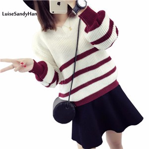 -Women-Sweaters-And-Pullovers-Female-2017-Newest-Striped-Knitted-Sweater-Women-Long-Sleeve-Jumper-Pull