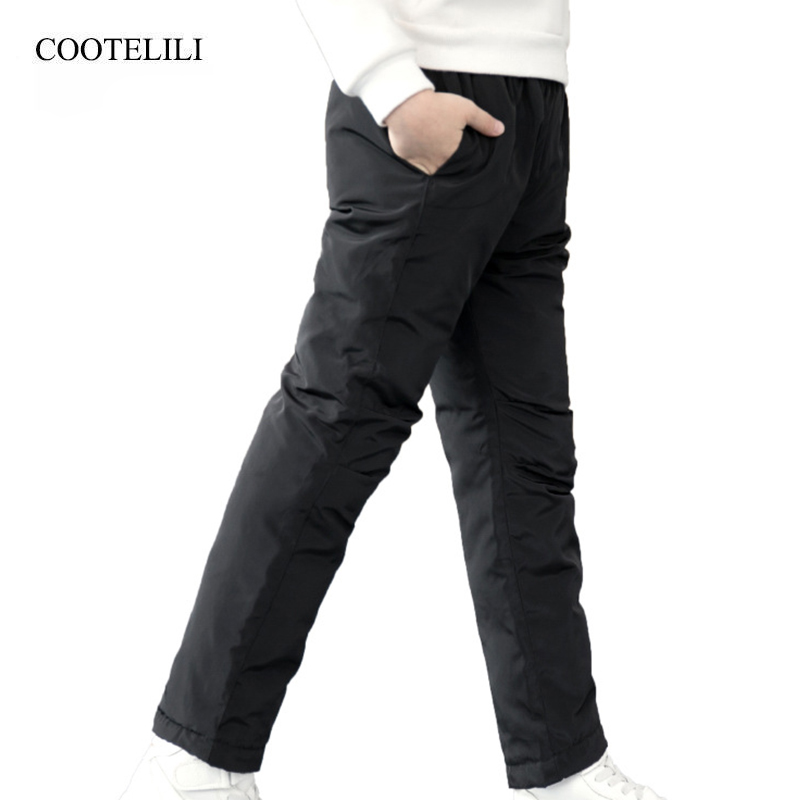 COOTELILI Teenager Girl Boy Winter Pants Cotton Padded Thick Warm Trousers Ski Pants Girls Pants Children Clothing 100-150cm 2017 new arrive winter children s ski pants boy and girl overalls down pants girls thick warm disassemble pant pants for 6 9t