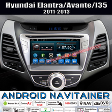 Quad Core 2 Din Car Radio Player Stereo DVD CD Multimedia Android for HYUNDAI Elantra/Avante/I35 GPS Navigation 2011 2012 2013