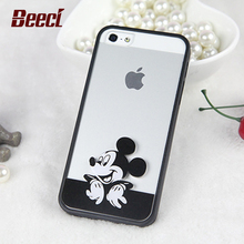 Cute Mickey Mouse Mickey and Minnie Hard Cover Case For apple iPhone 5 5S 6 6S 6 plus 6S Plus Transparent Case MK01