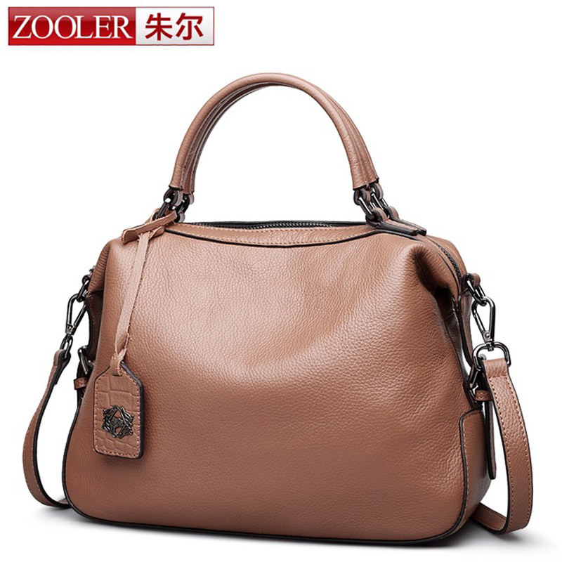ZOOLER Boston Bag Ladies Messenger Bags for Women Vintage Genuine Leather Designer Handbags High Quality Famous Brands Tote Bag new trend 2016 zooler women genuine leather messenger bags vintage crossbody bag bags handbags women famous brands high quality