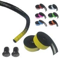 High Quality PU Road Bike Tapes Bicycle Cork Handlebar Tape Wrap +2 Bar Plug Bicycle Accessories Gradient Bike Handlebar Tapes|Handlebar Tape|Sports & Entertainment -