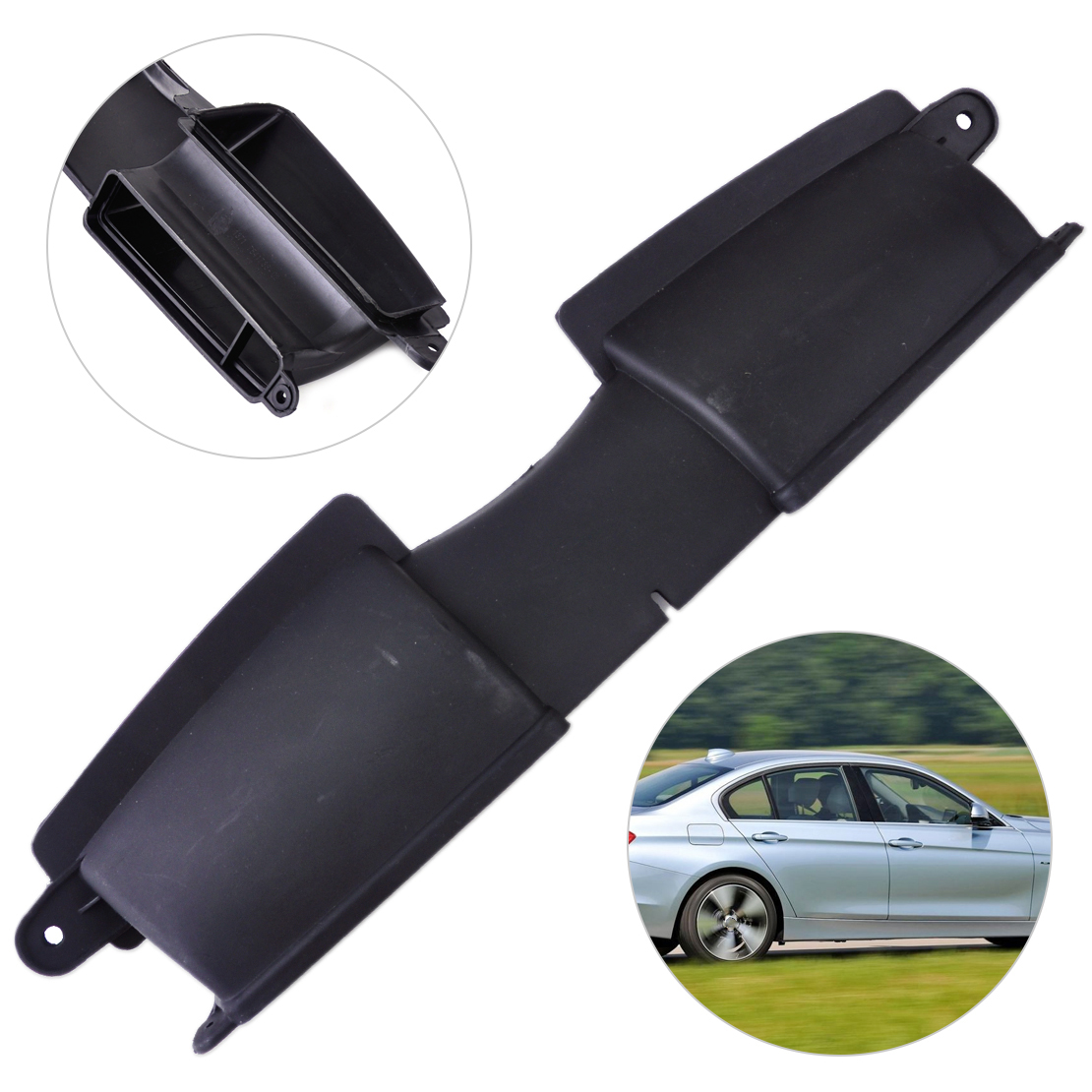 Beler 1Pc New Black Plastic Air Filter Housing Duct To Radiator Air Duct 13717541738 Fit For BMW 3 Series E90 E91 E92 E93