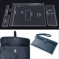 1set DIY men's handbag mold hand bag hand made leather plate pattern acrylic design durable template 27.5x16x2.5cm