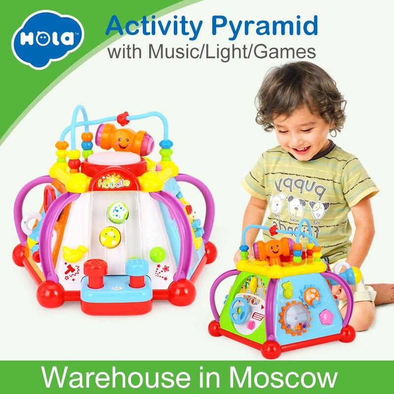 HOLA 806 bébé jouets activité musicale Cube jouet apprentissage jeu éducatif jouer Center jouet avec lumières et sons jouets pour enfants - 2