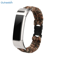 Ouhaobin New Nylon Rope Survival Watch Strap Bracelet Watch Band For Fitbit Alta/Fitbit Alta HR Straps Luxury Fashion Oct11