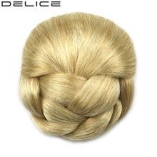 [DELICE] 70 г женщин Плетеные Клип В Волос Chignon Donut Ролика Синтетических Шиньоны DH102
